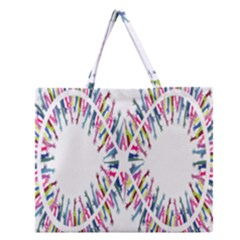 Free Symbol Hands Zipper Large Tote Bag by Mariart