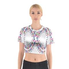 Free Symbol Hands Cotton Crop Top by Mariart