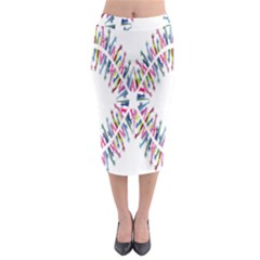 Free Symbol Hands Midi Pencil Skirt by Mariart