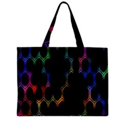 Grid Light Colorful Bright Ultra Zipper Mini Tote Bag by Mariart