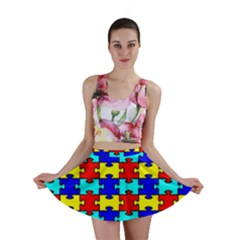Game Puzzle Mini Skirt by Mariart