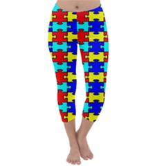 Game Puzzle Capri Winter Leggings  by Mariart
