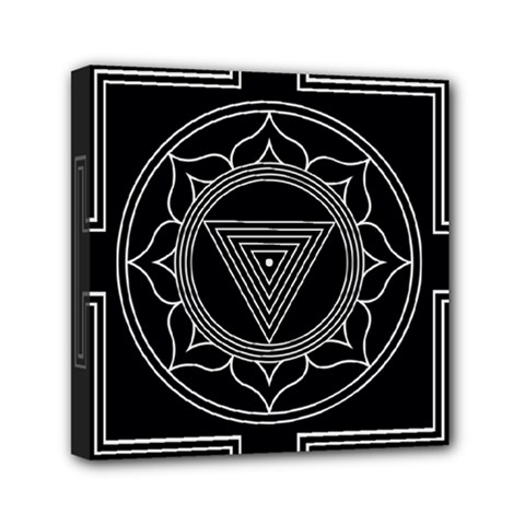 Kali Yantra Inverted Mini Canvas 6  X 6  by Mariart