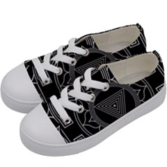 Kali Yantra Inverted Kids  Low Top Canvas Sneakers by Mariart