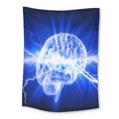 Lightning Brain Blue Medium Tapestry by Mariart