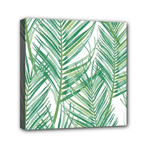 Jungle Fever Green Leaves Mini Canvas 6  X 6  by Mariart