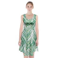 Jungle Fever Green Leaves Racerback Midi Dress