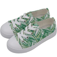 Jungle Fever Green Leaves Kids  Low Top Canvas Sneakers by Mariart
