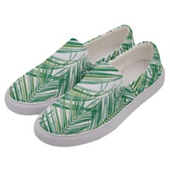 Jungle Fever Green Leaves Men s Canvas Slip Ons by Mariart