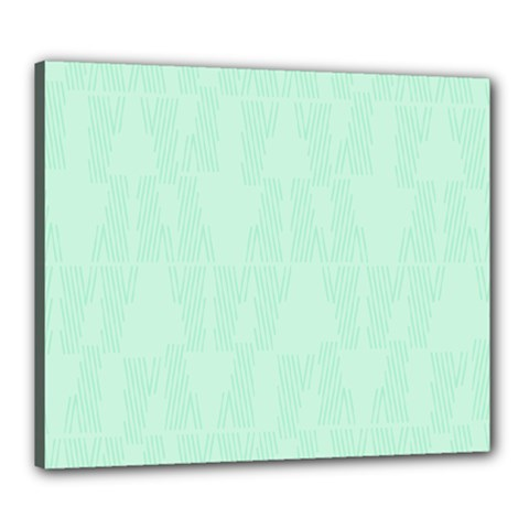 Line Blue Chevron Canvas 24  X 20  by Mariart