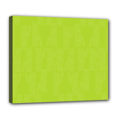 Line Green Deluxe Canvas 24  X 20   by Mariart