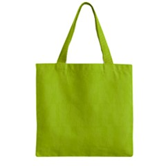 Line Green Zipper Grocery Tote Bag by Mariart