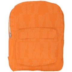 Line Orange Full Print Backpack by Mariart