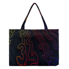Neon Number Medium Tote Bag by Mariart