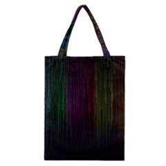 Line Rain Rainbow Light Stripes Lines Flow Classic Tote Bag by Mariart