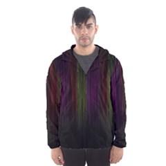 Line Rain Rainbow Light Stripes Lines Flow Hooded Wind Breaker (men) by Mariart