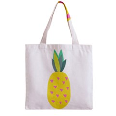 Pineapple Fruite Yellow Triangle Pink Grocery Tote Bag by Mariart