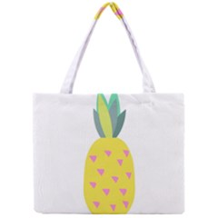 Pineapple Fruite Yellow Triangle Pink Mini Tote Bag by Mariart