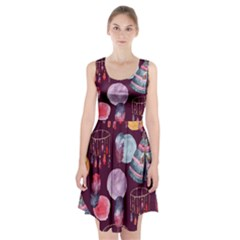 Boho Tribal Watercolor Pattern  Racerback Midi Dress by paulaoliveiradesign