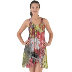 Garden Abstract Show Some Back Chiffon Dress