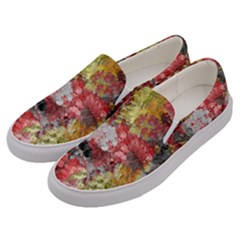 Garden Abstract Men s Canvas Slip Ons by theunrulyartist