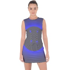 Pure Energy Black Blue Hole Space Galaxy Lace Up Front Bodycon Dress by Mariart