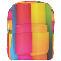 Rainbow Stripes Vertical Lines Colorful Blue Pink Orange Green Full Print Backpack by Mariart