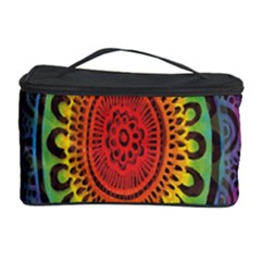 Rainbow Mandala Circle Cosmetic Storage Case by Mariart