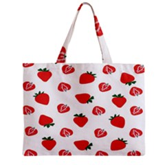 Red Fruit Strawberry Pattern Zipper Mini Tote Bag by Mariart