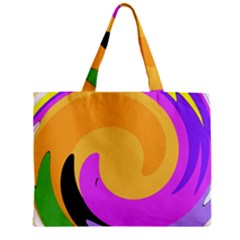Spiral Digital Pop Rainbow Zipper Mini Tote Bag by Mariart