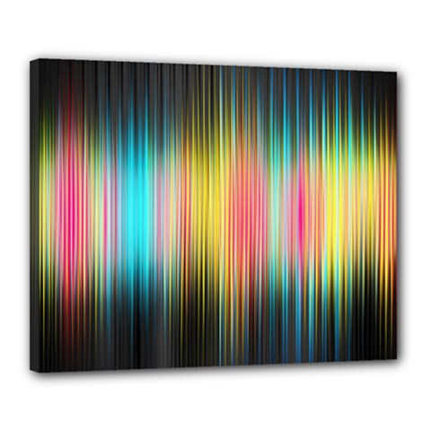 Sound Colors Rainbow Line Vertical Space Canvas 20  X 16  by Mariart