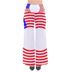 Stars Stripes Circle Red Blue Pants by Mariart
