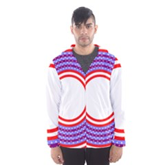 Stars Stripes Circle Red Blue Space Round Hooded Wind Breaker (men) by Mariart