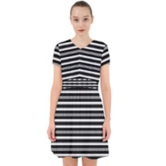 Tribal Stripes Black White Adorable In Chiffon Dress