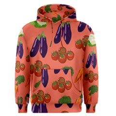 Vegetable Carrot Tomato Pumpkin Eggplant Men s Pullover Hoodie by Mariart