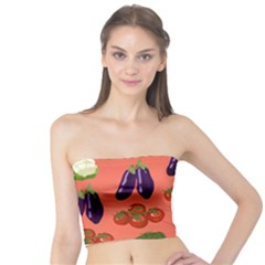 Vegetable Carrot Tomato Pumpkin Eggplant Tube Top by Mariart