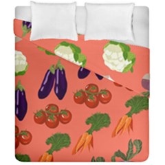 Vegetable Carrot Tomato Pumpkin Eggplant Duvet Cover Double Side (california King Size) by Mariart