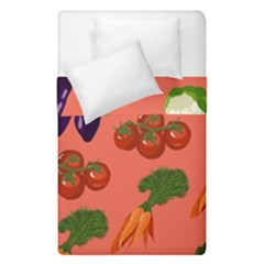Vegetable Carrot Tomato Pumpkin Eggplant Duvet Cover Double Side (single Size) by Mariart