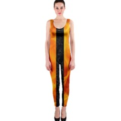 Stripes1 Black Marble & Fire Onepiece Catsuit by trendistuff