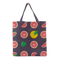 Wild Textures Grapefruits Pattern Lime Orange Grocery Tote Bag by Mariart