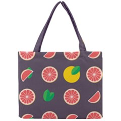 Wild Textures Grapefruits Pattern Lime Orange Mini Tote Bag by Mariart