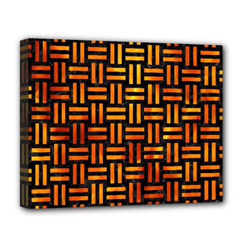 Woven1 Black Marble & Fire Deluxe Canvas 20  X 16   by trendistuff