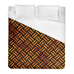 Woven2 Black Marble & Fire Duvet Cover (full/ Double Size) by trendistuff