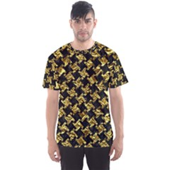 Houndstooth2 Black Marble & Gold Foil Men s Sports Mesh Tee by trendistuff