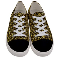 Scales2 Black Marble & Gold Foil (r) Women s Low Top Canvas Sneakers