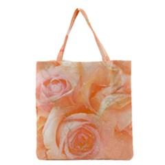 Flower Power, Wonderful Roses, Vintage Design Grocery Tote Bag by FantasyWorld7