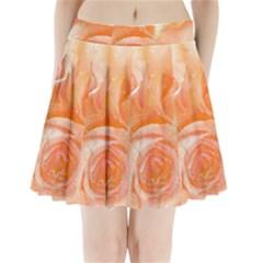 Flower Power, Wonderful Roses, Vintage Design Pleated Mini Skirt by FantasyWorld7