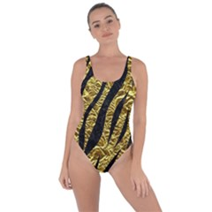 Skin3 Black Marble & Gold Foil (r) Bring Sexy Back Swimsuit by trendistuff
