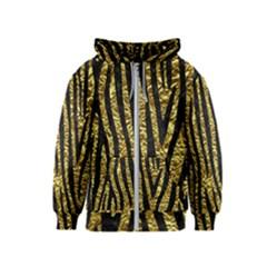 Skin4 Black Marble & Gold Foil Kids  Zipper Hoodie