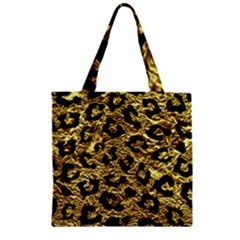 Skin5 Black Marble & Gold Foil Zipper Grocery Tote Bag by trendistuff